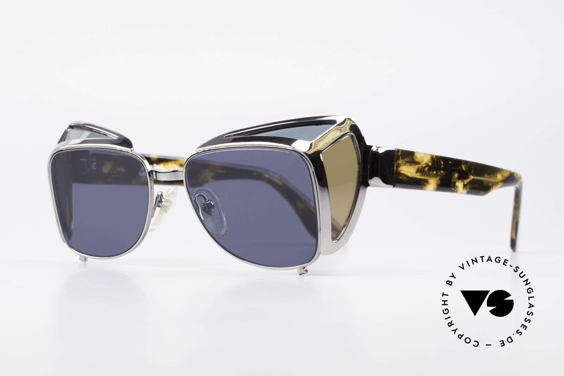 Jean Paul Gaultier 56-9272 Steampunk Sonnenbrille JPG, limitierte Kleinserie (ein seltenes Sammlerstück), Passend für Herren