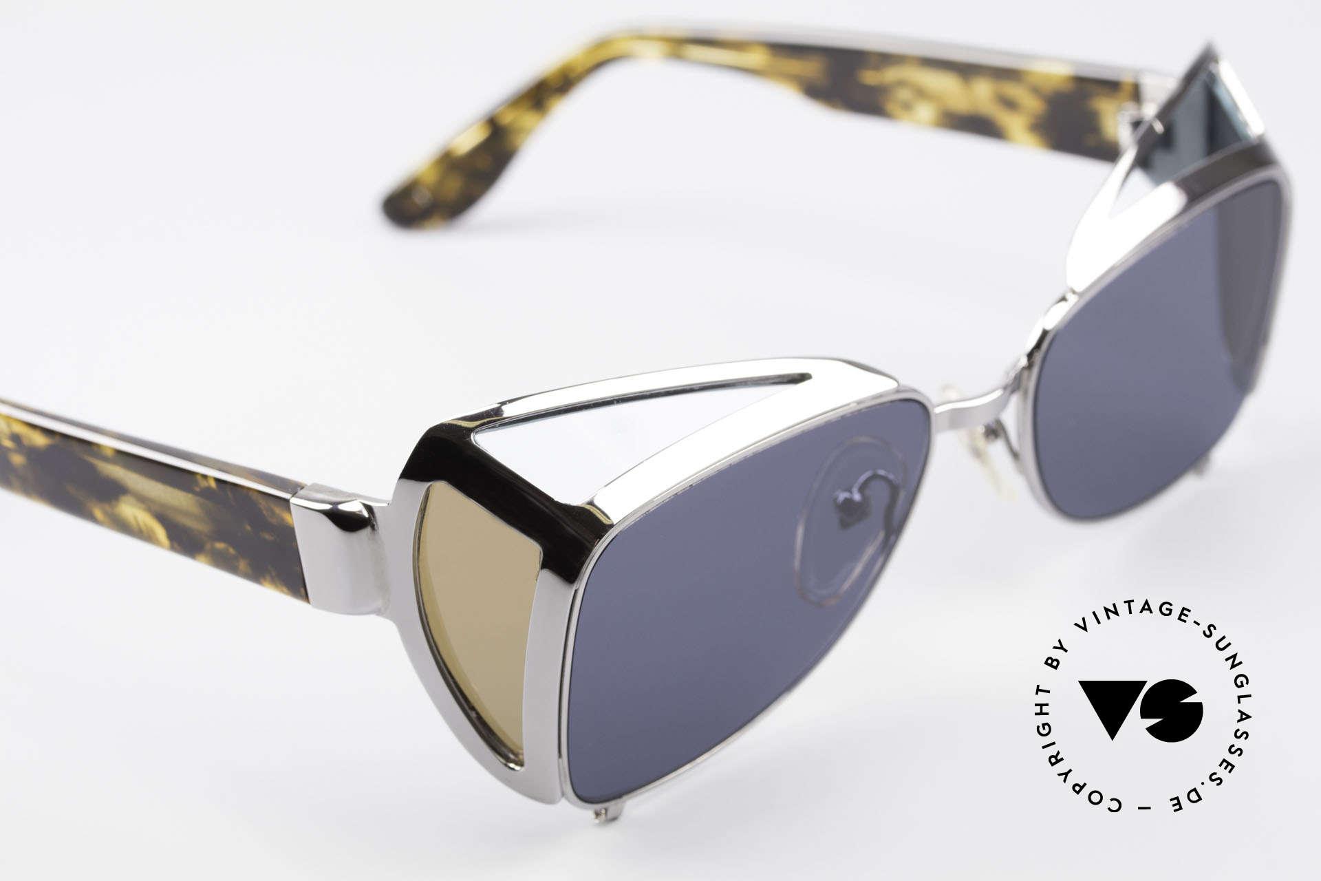 Jean Paul Gaultier 56-9272 Steampunk Sonnenbrille JPG, KEINE retro Sonnenbrille, vintage 1990er Original, Passend für Herren