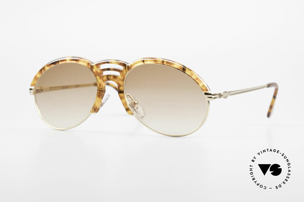 Bugatti 15287 Bernstein Optik Sonnenbrille, klassisch elegantes BUGATTI Design von ca. 1989, Passend für Herren