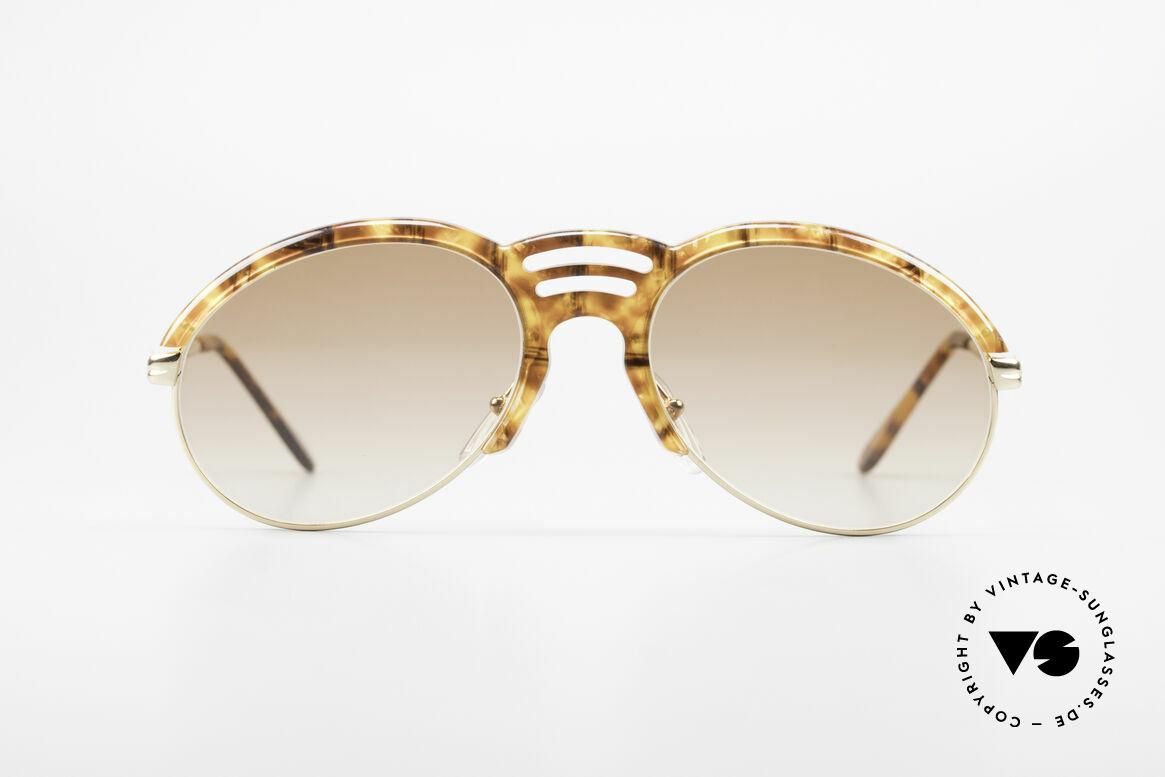 Bugatti 15287 Bernstein Optik Sonnenbrille, typische Bugatti Herrenform (leichte Tropfenform), Passend für Herren