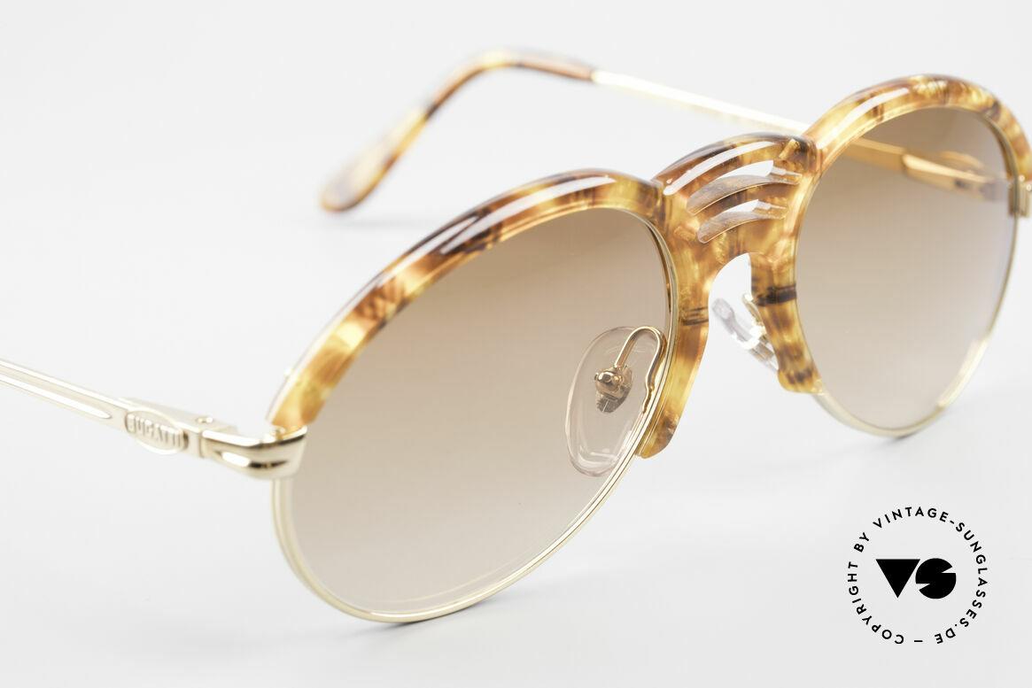 Bugatti 15287 Bernstein Optik Sonnenbrille, ungetragen (wie alle unsere vintage 80er Bugattis), Passend für Herren