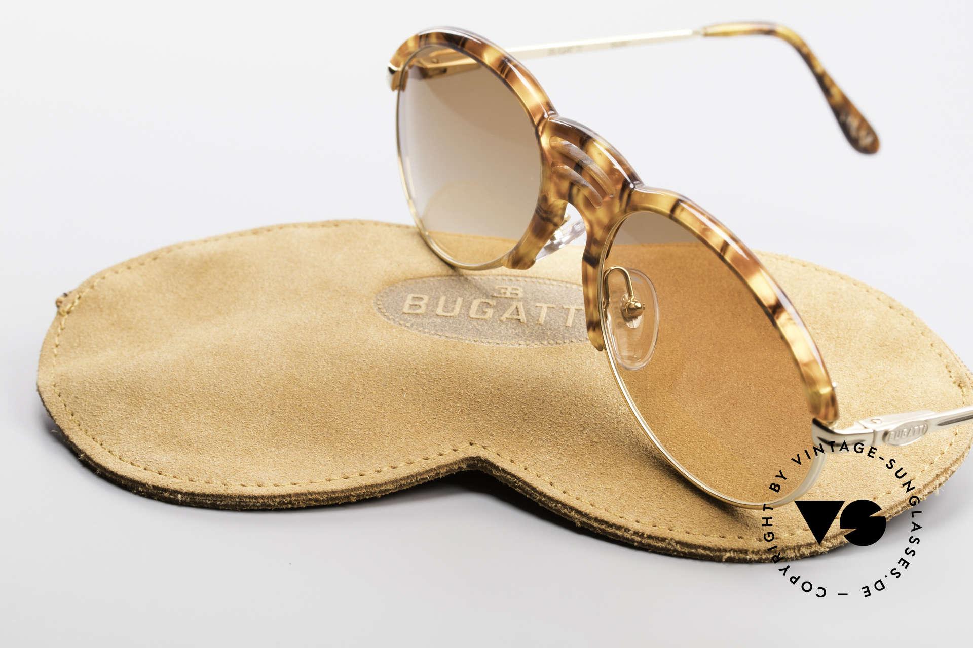 Bugatti 15287 Bernstein Optik Sonnenbrille, KEINE Retrosonnenbrille; sondern ein altes Original, Passend für Herren