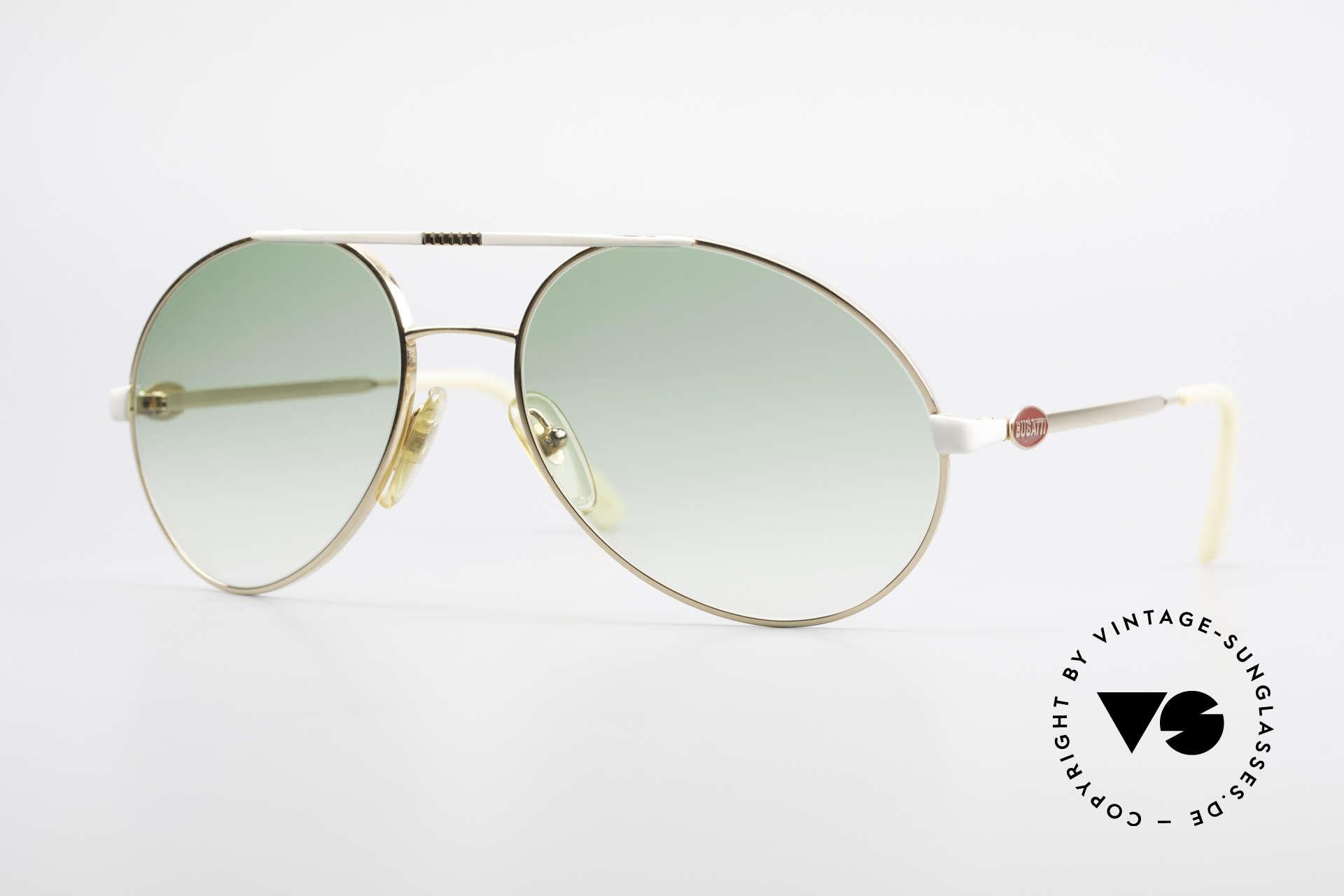 Bugatti 64319 Original 80er Sonnenbrille, klassische 80er Bugatti vintage Herren-Sonnenbrille, Passend für Herren