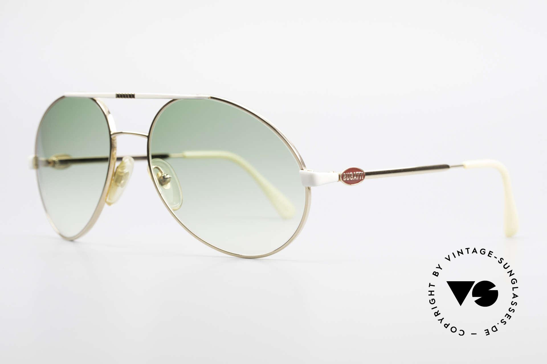 Bugatti 64319 Original 80er Sonnenbrille, eine Luxus-Sonnenbrille in LARGE-Größe (140mm), Passend für Herren