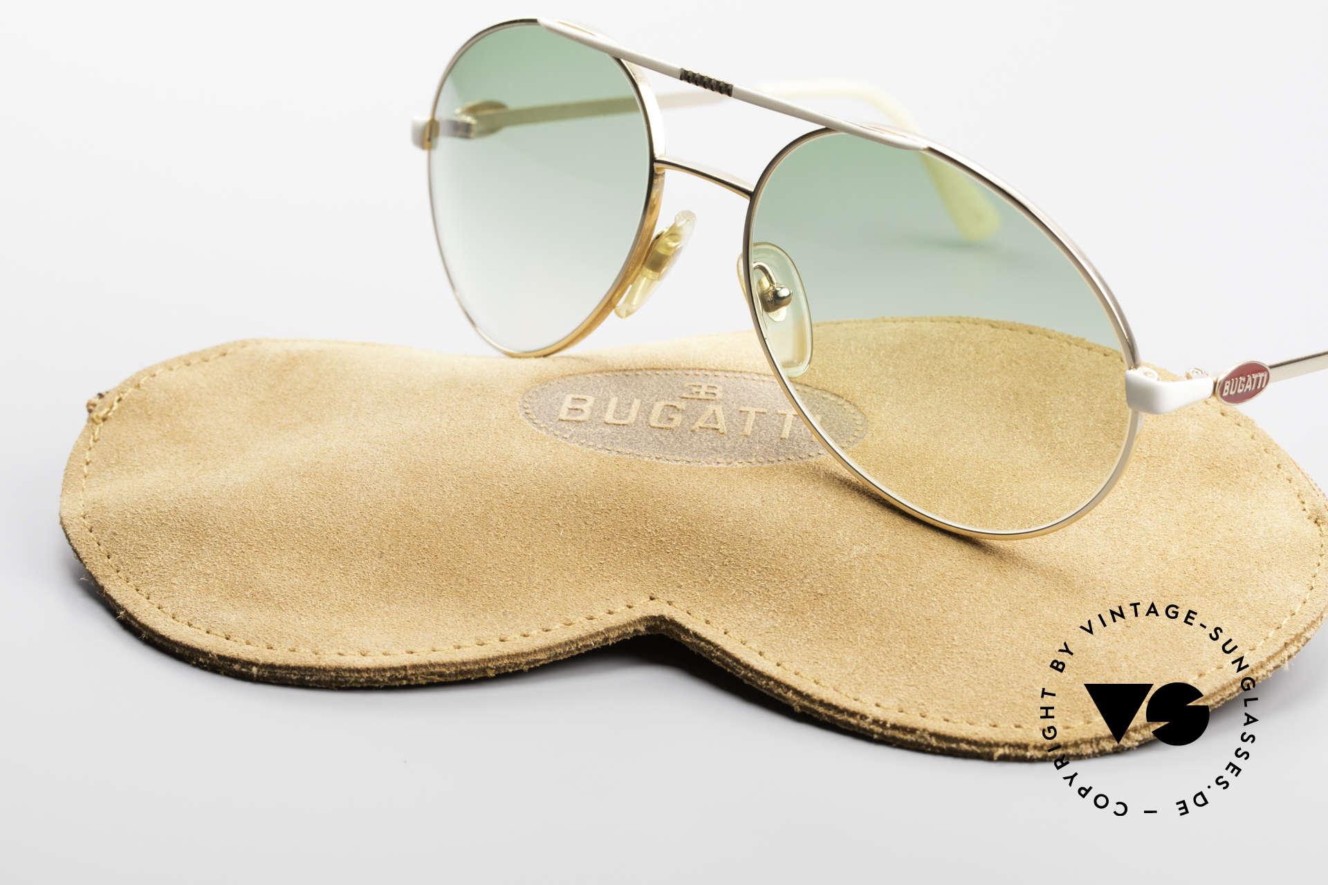 Bugatti 64319 Original 80er Sonnenbrille, Sonnengläser können beliebig ausgetauscht werden, Passend für Herren