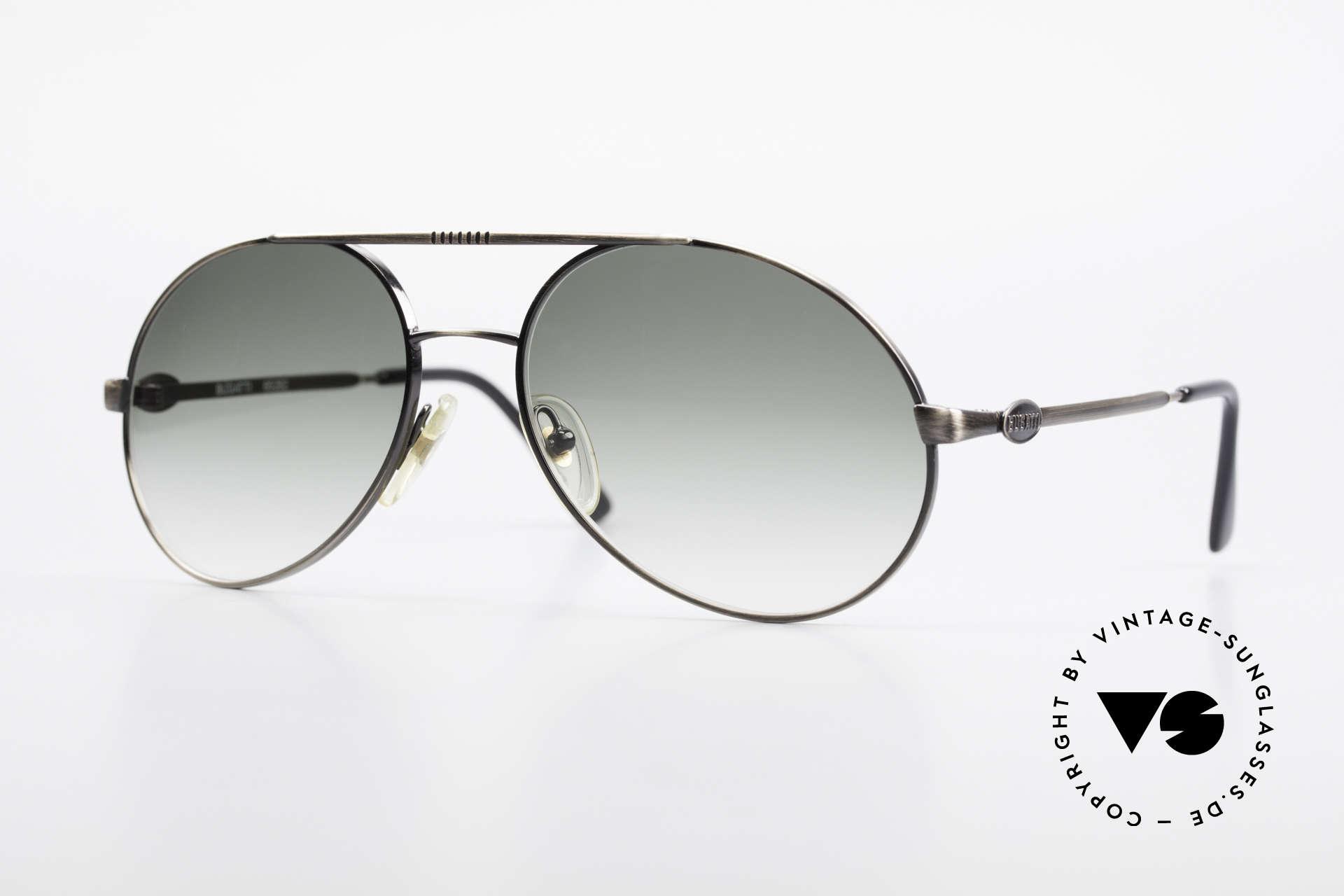Bugatti 65282 Vintage Herrensonnenbrille, vintage Bugatti XL Sonnenbrille aus dem Jahre 1988, Passend für Herren