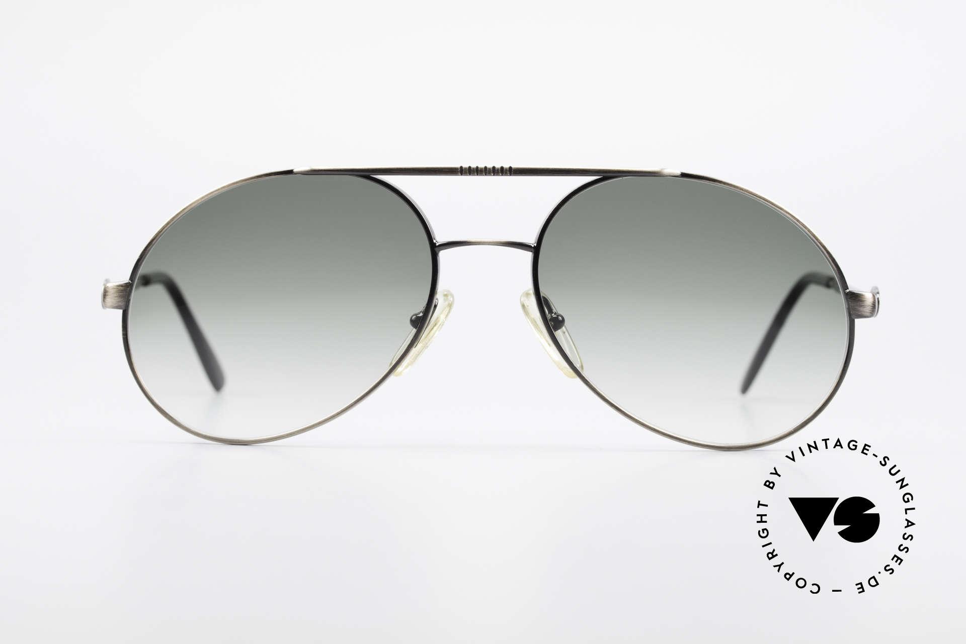 Bugatti 65282 Vintage Herrensonnenbrille, außergewöhnlicher Farbton (anthrazit / antik metall), Passend für Herren