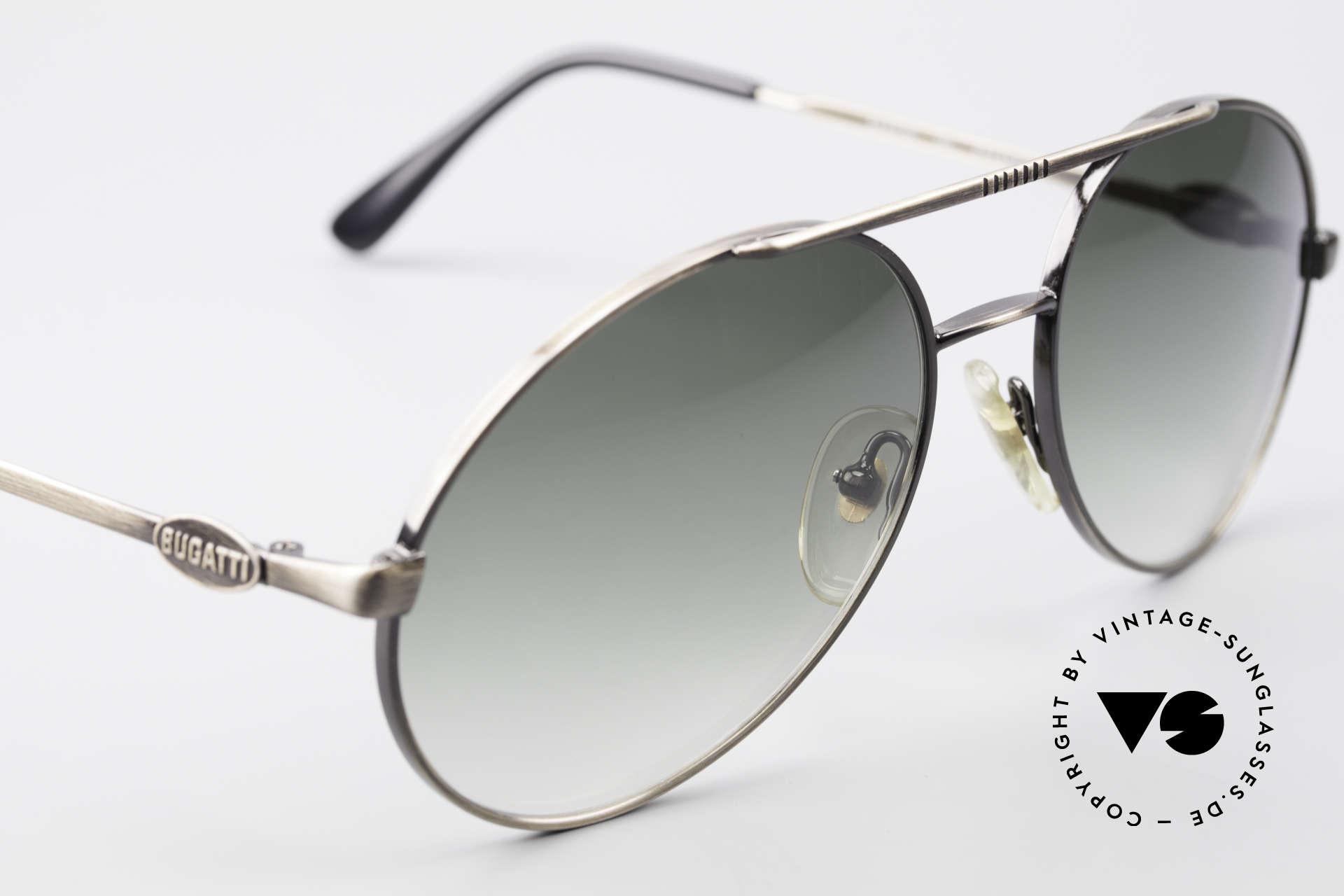 Bugatti 65282 Vintage Herrensonnenbrille, ungetragenes Einzelstück (kostbare vintage Rarität!), Passend für Herren