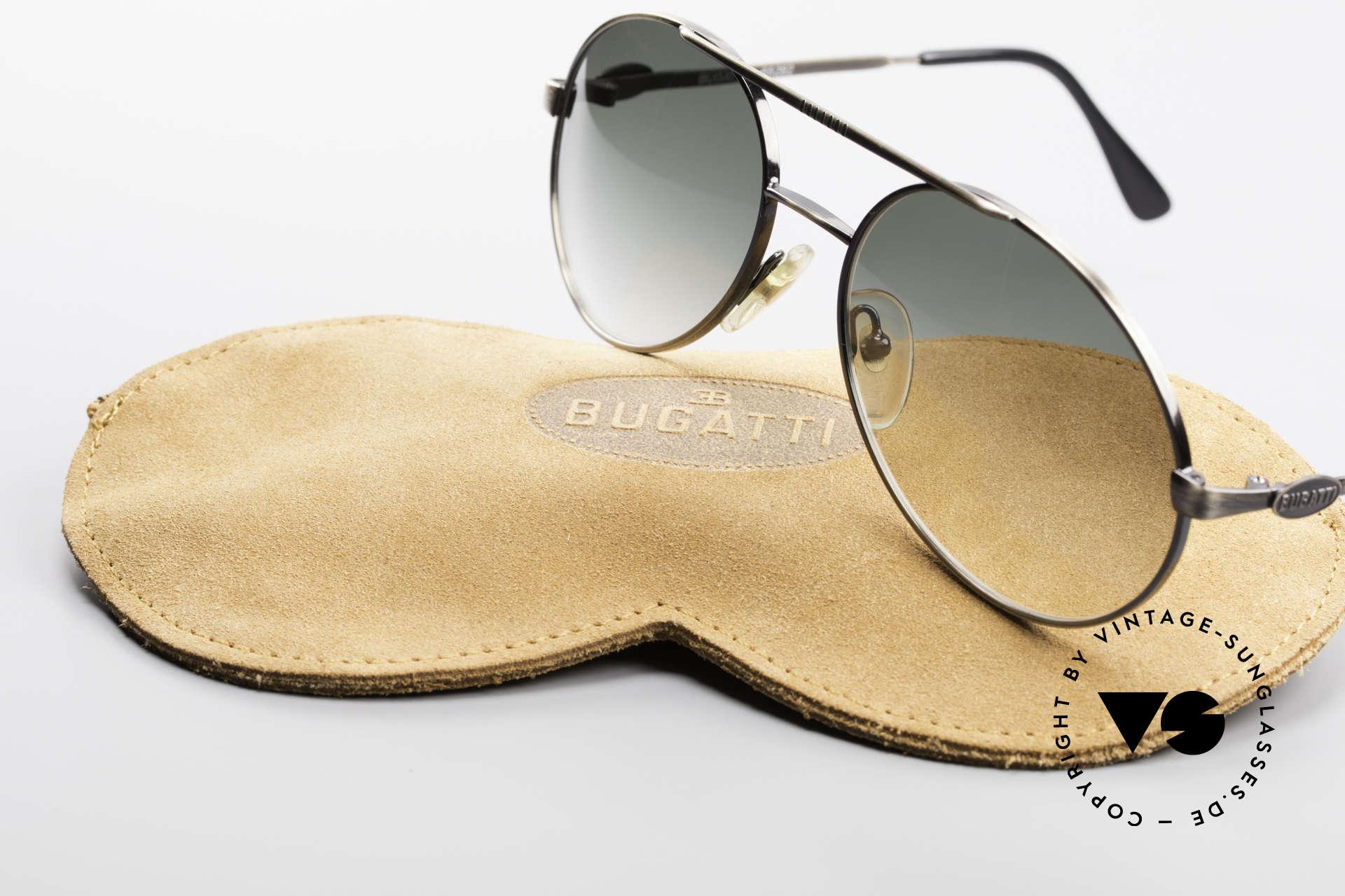 Bugatti 65282 Vintage Herrensonnenbrille, KEINE Retromode; sondern ein 30 Jahre altes Original, Passend für Herren