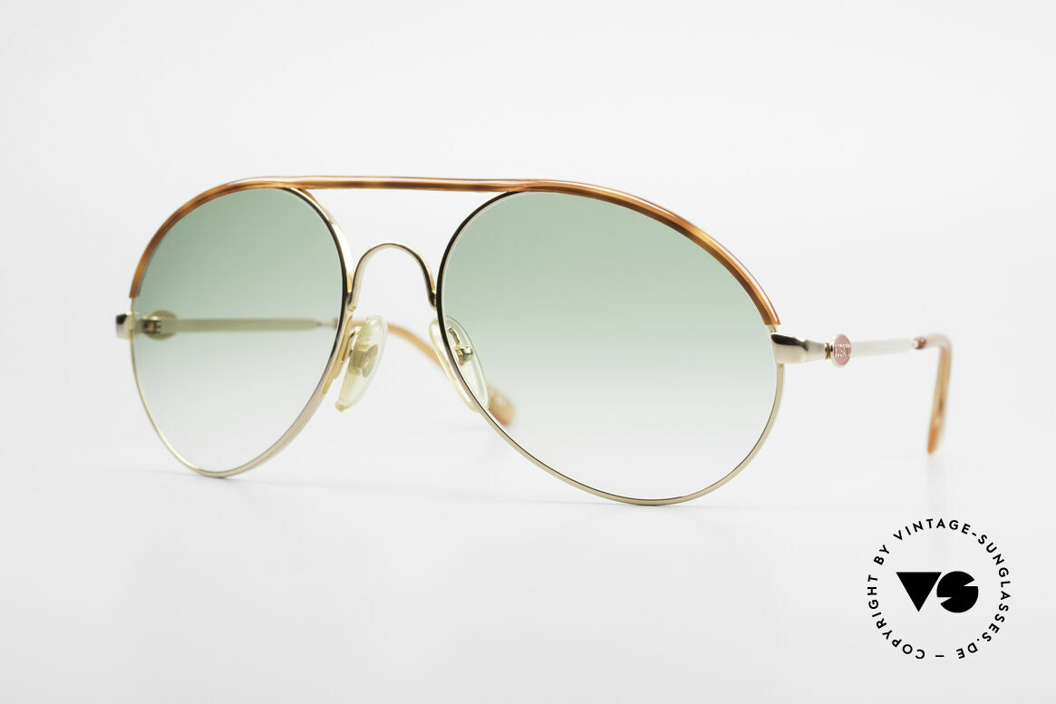 Bugatti 65986 80er Herren XL Sonnenbrille, klassische BUGATTI Sonnenbrille von ca. 1985, Passend für Herren