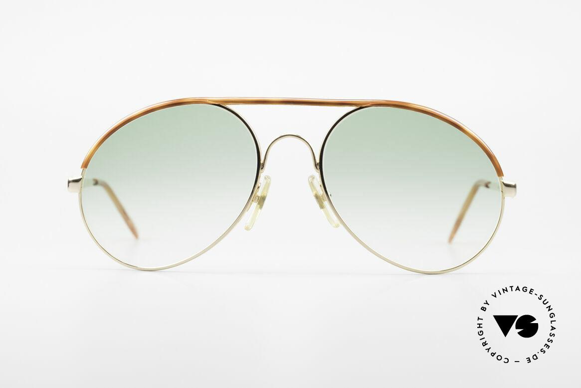 Bugatti 65986 80er Herren XL Sonnenbrille, in typischer / legendärer Bugatti-Tropfenform, Passend für Herren