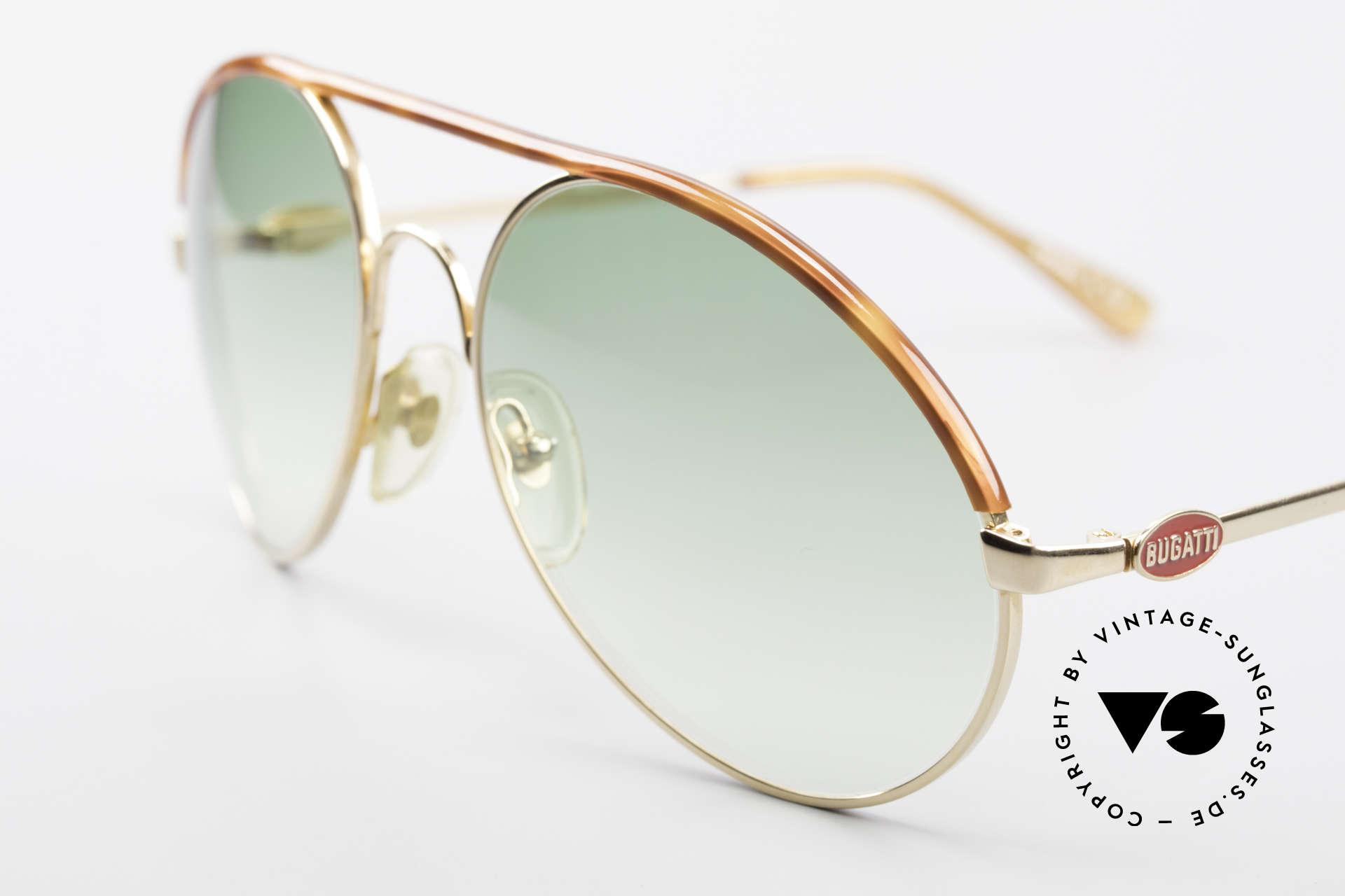 Bugatti 65986 80er Herren XL Sonnenbrille, Größe 58 = die extra-LARGE Größe von Bugatti, Passend für Herren