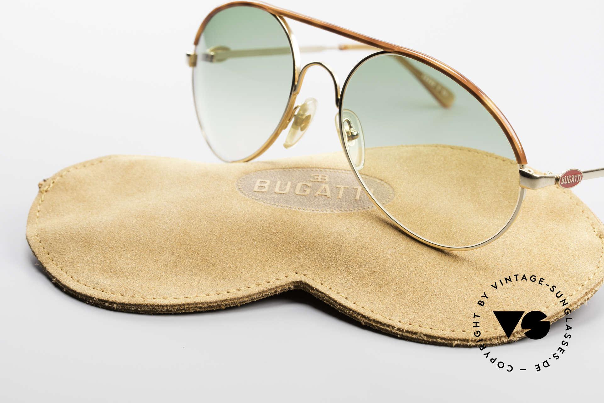 Bugatti 65986 80er Herren XL Sonnenbrille, KEINE Retrobrille; sondern ein altes ORIGINAL, Passend für Herren