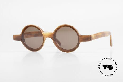 Alain Mikli 0150 / 246 Runde 80er Designer Brille Details