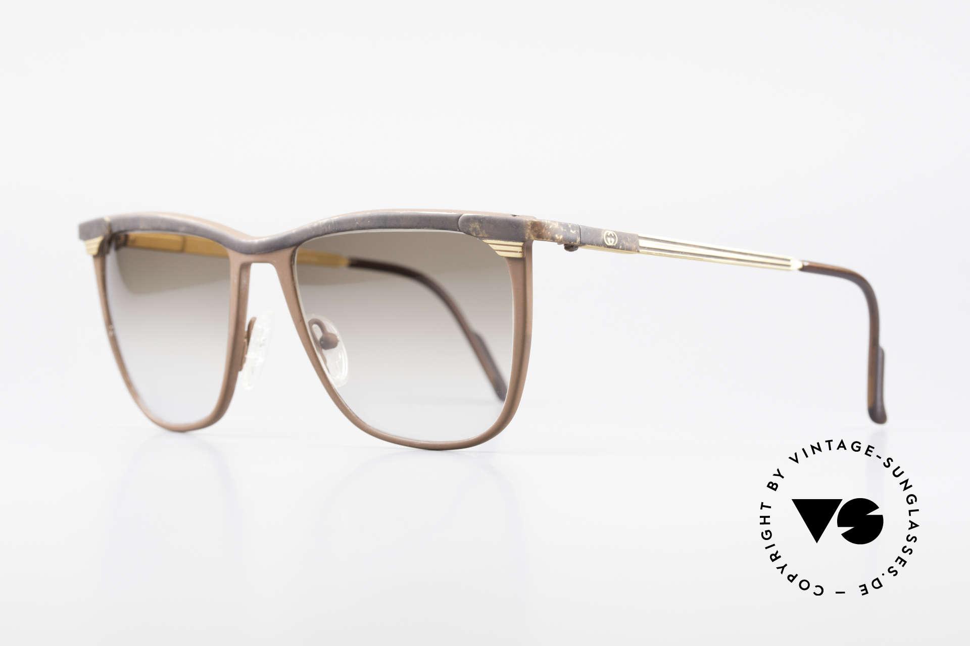 Gucci 2227 Luxus Designer Sonnenbrille, matte Voll-Lackierung & wertvolle Federscharniere, Passend für Herren und Damen