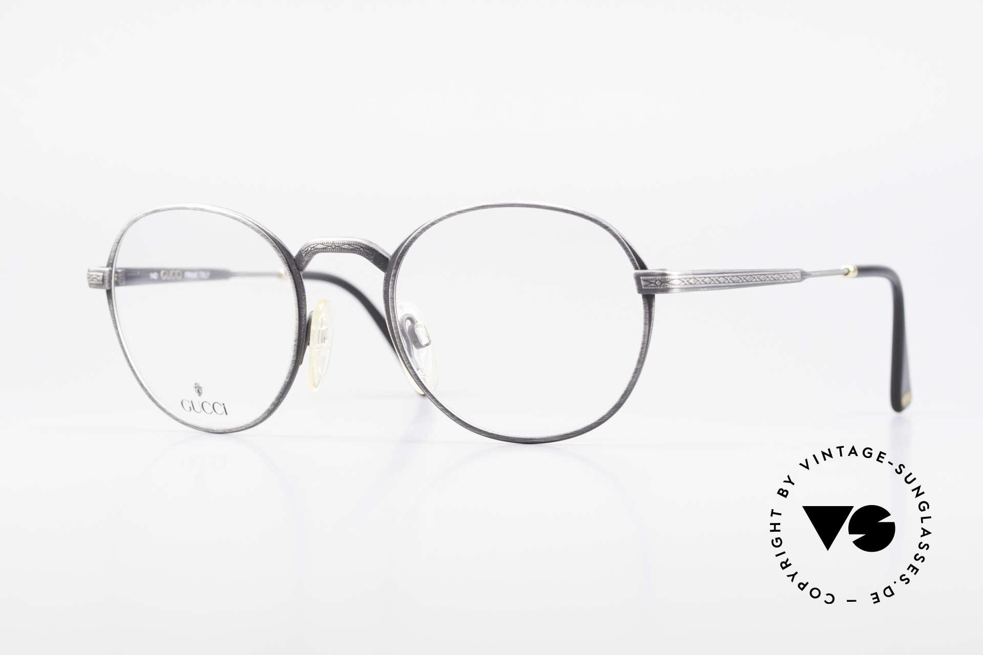 Gucci 1226 Klassische 80er Panto Brille, klassische VINTAGE Designer-Brille von GUCCI, Passend für Herren und Damen