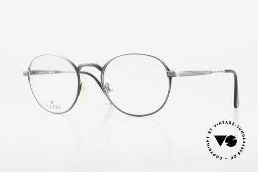 Gucci 1226 Klassische 80er Panto Brille Details