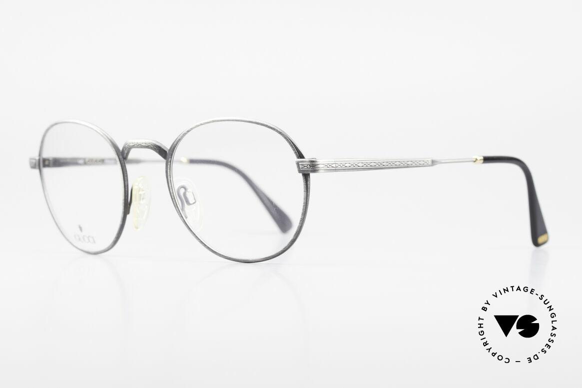 """Gucci 1226 Klassische 80er Panto Brille, Panto-Form mit einer """"antik metall"""" Lackierung, Passend für Herren und Damen"""