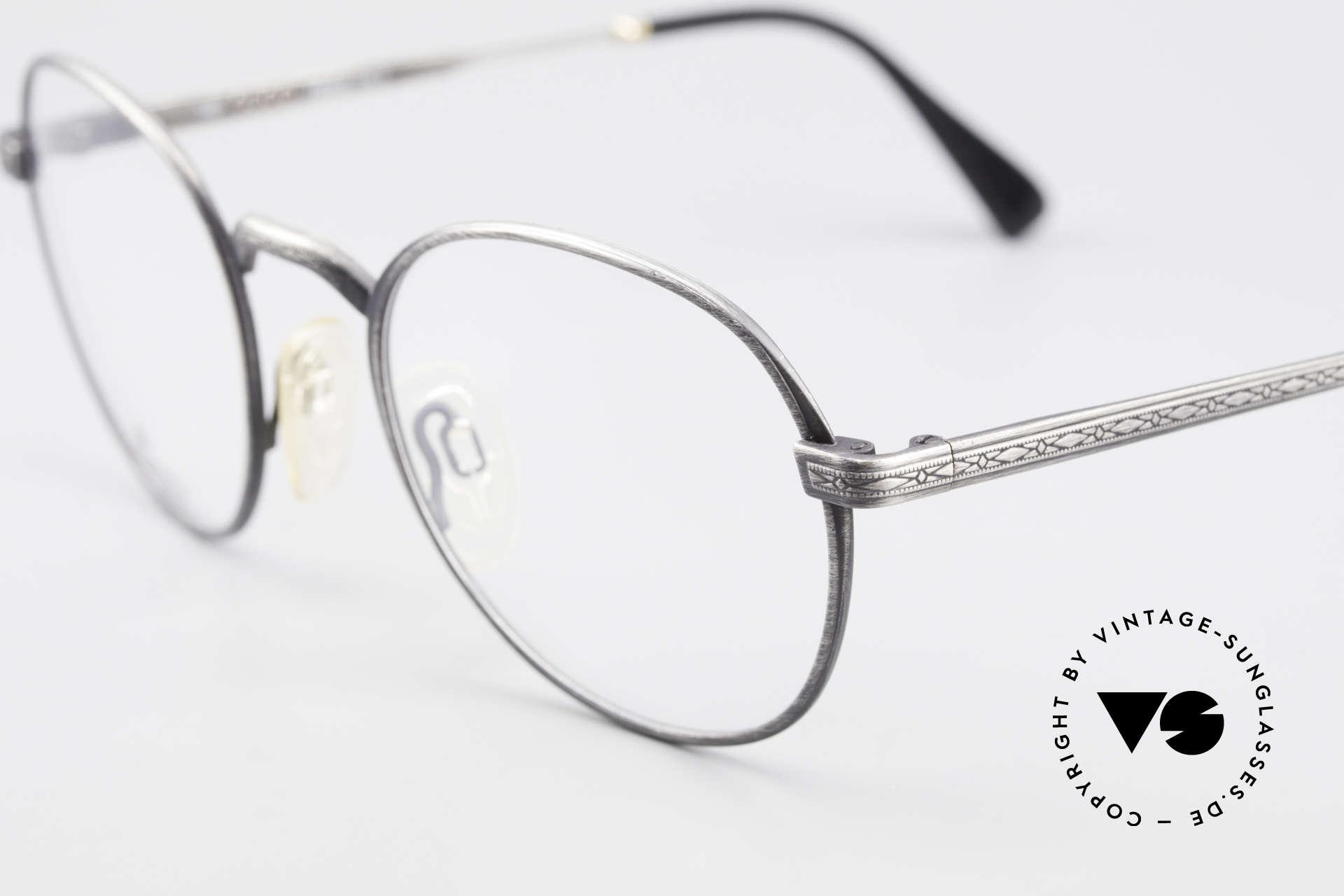 Gucci 1226 Klassische 80er Panto Brille, elegantes zeitloses Design mit orig. Gucci Etui, Passend für Herren und Damen