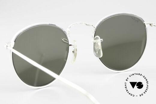 Ray Ban Round Metal 47 Blau Verspiegelte Sonnenbrille
