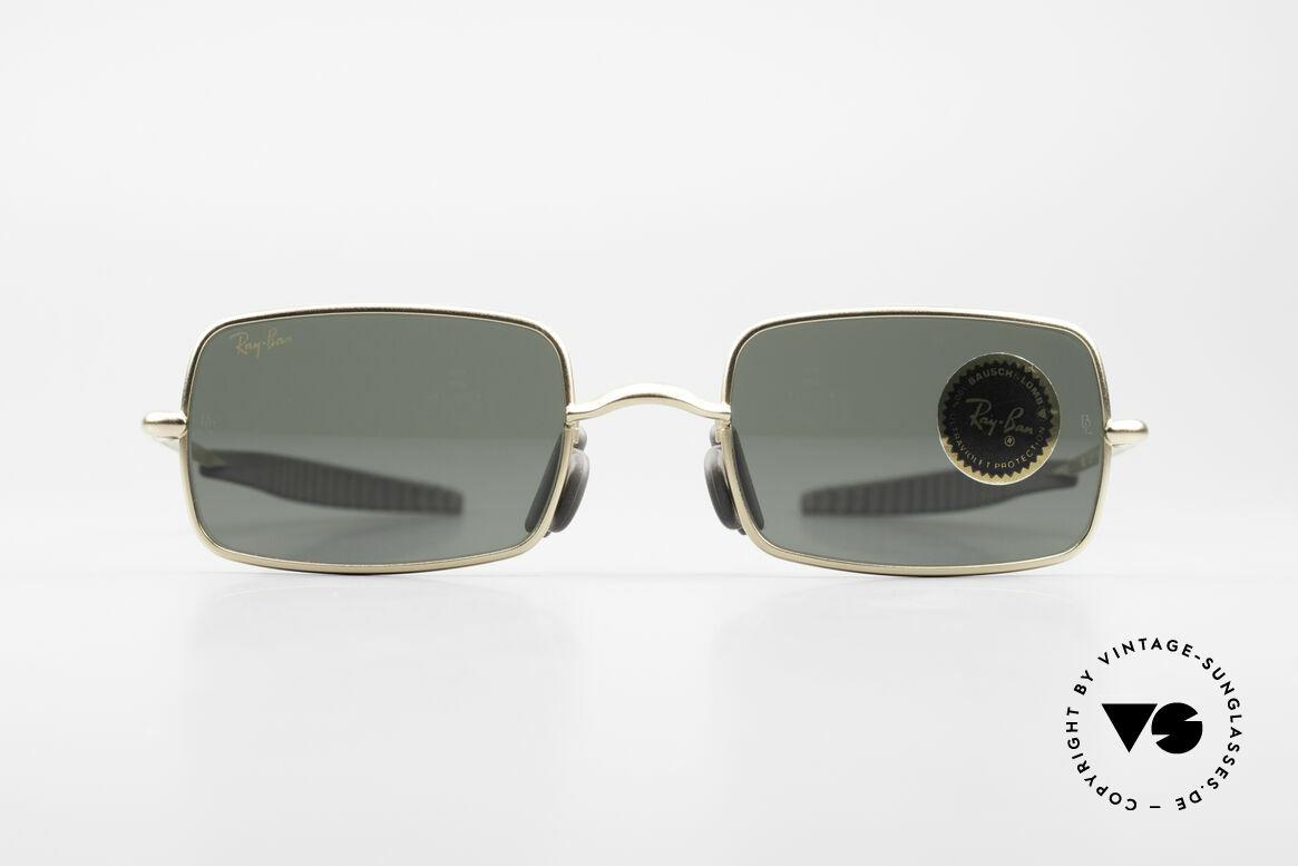Ray Ban Orbs 6 Base Square Eckige B&L USA Sport Brille, futuristische Sportbrille von Ray Ban; perfekter Sitz, Passend für Herren