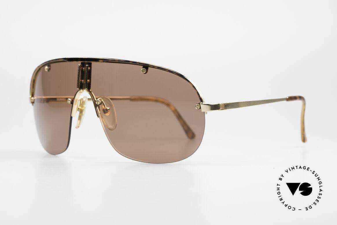 Dunhill 6102 Rare 90er Herren Sonnenbrille, genialer flexibler Rahmen für idealen Tragekomfort, Passend für Herren