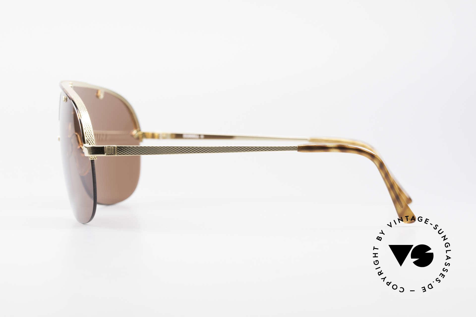 Dunhill 6102 Rare 90er Herren Sonnenbrille, herausragende Qualität (hartvergoldet & schildpatt), Passend für Herren