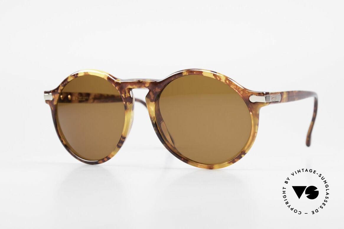BOSS 5160 Grosse Panto Sonnenbrille, klassische 90er Herren-Sonnenbrille von BOSS, Passend für Herren