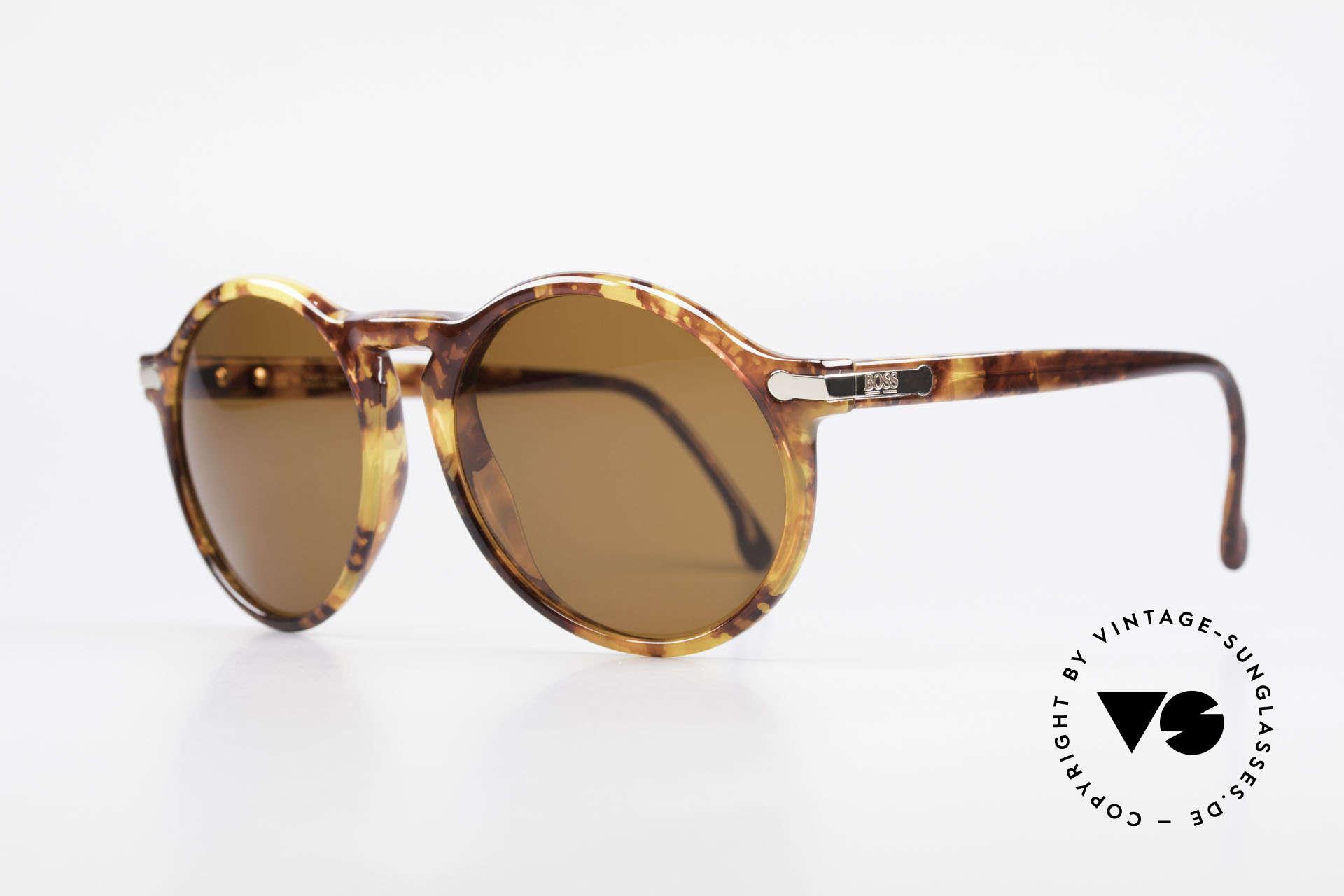 BOSS 5160 Grosse Panto Sonnenbrille, enorm leicht & in Top-Qualität (Optyl-Material), Passend für Herren