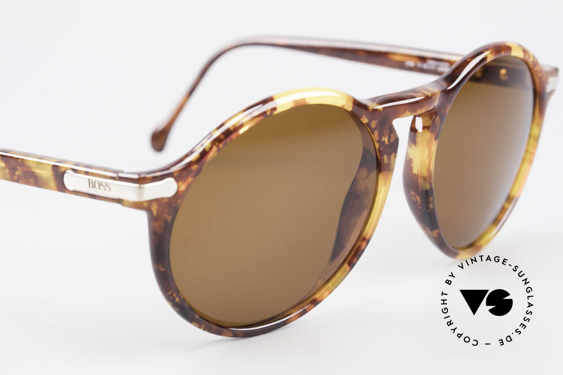 BOSS 5160 Grosse Panto Sonnenbrille, unbenutztes Einzelstück (kostbar und selten), Passend für Herren