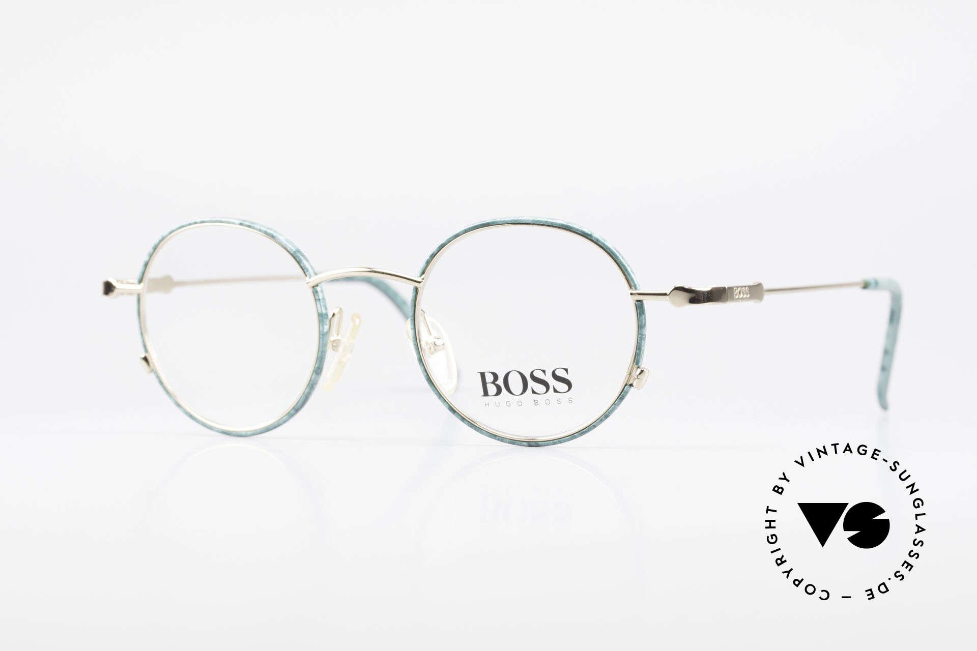 BOSS 5148 Runde Panto Style Fassung, klassische vintage Designer-Fassung von Hugo BOSS, Passend für Herren und Damen