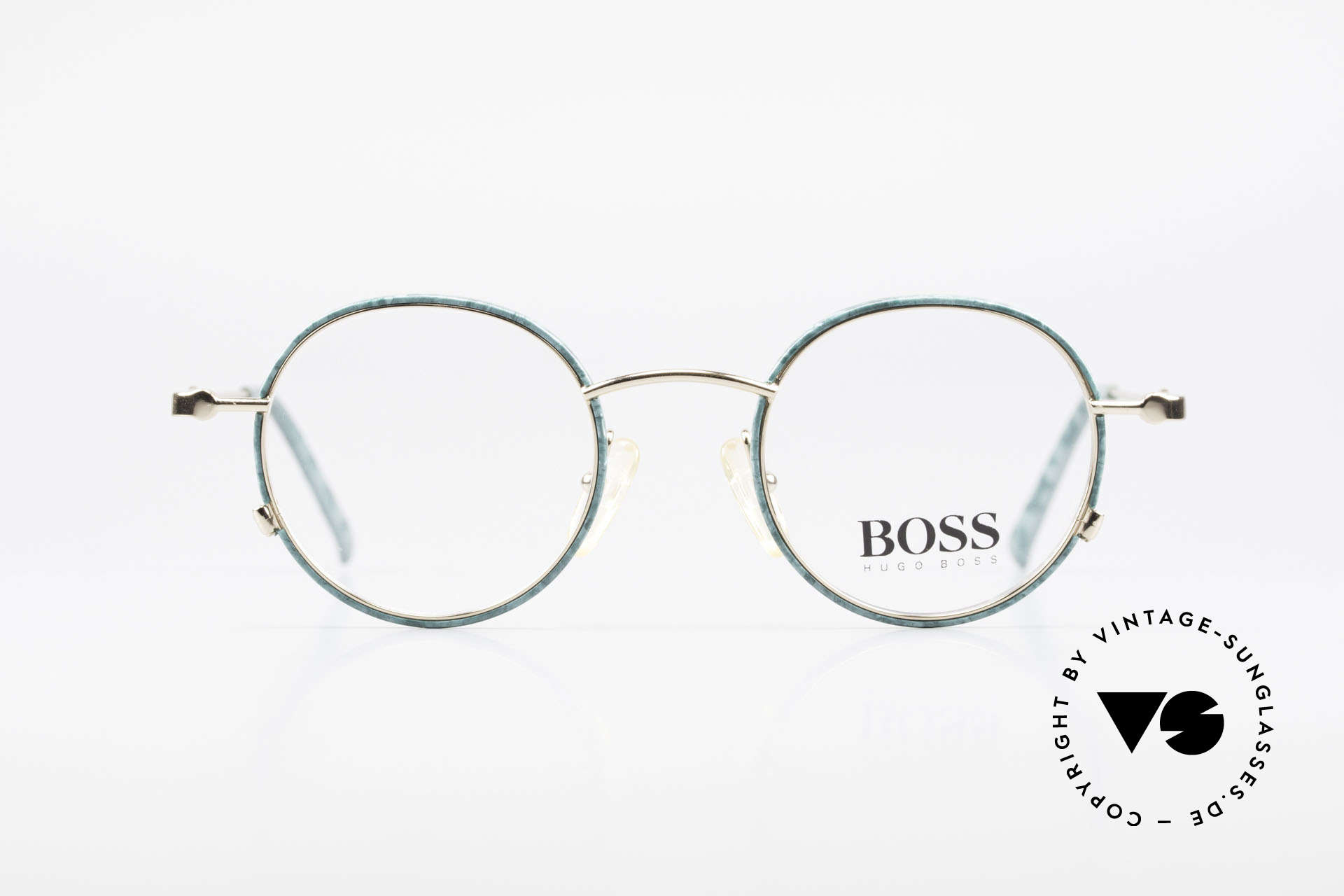 BOSS 5148 Runde Panto Style Fassung, großartiges ORIGINAL in absoluter Spitzen-Qualität, Passend für Herren und Damen