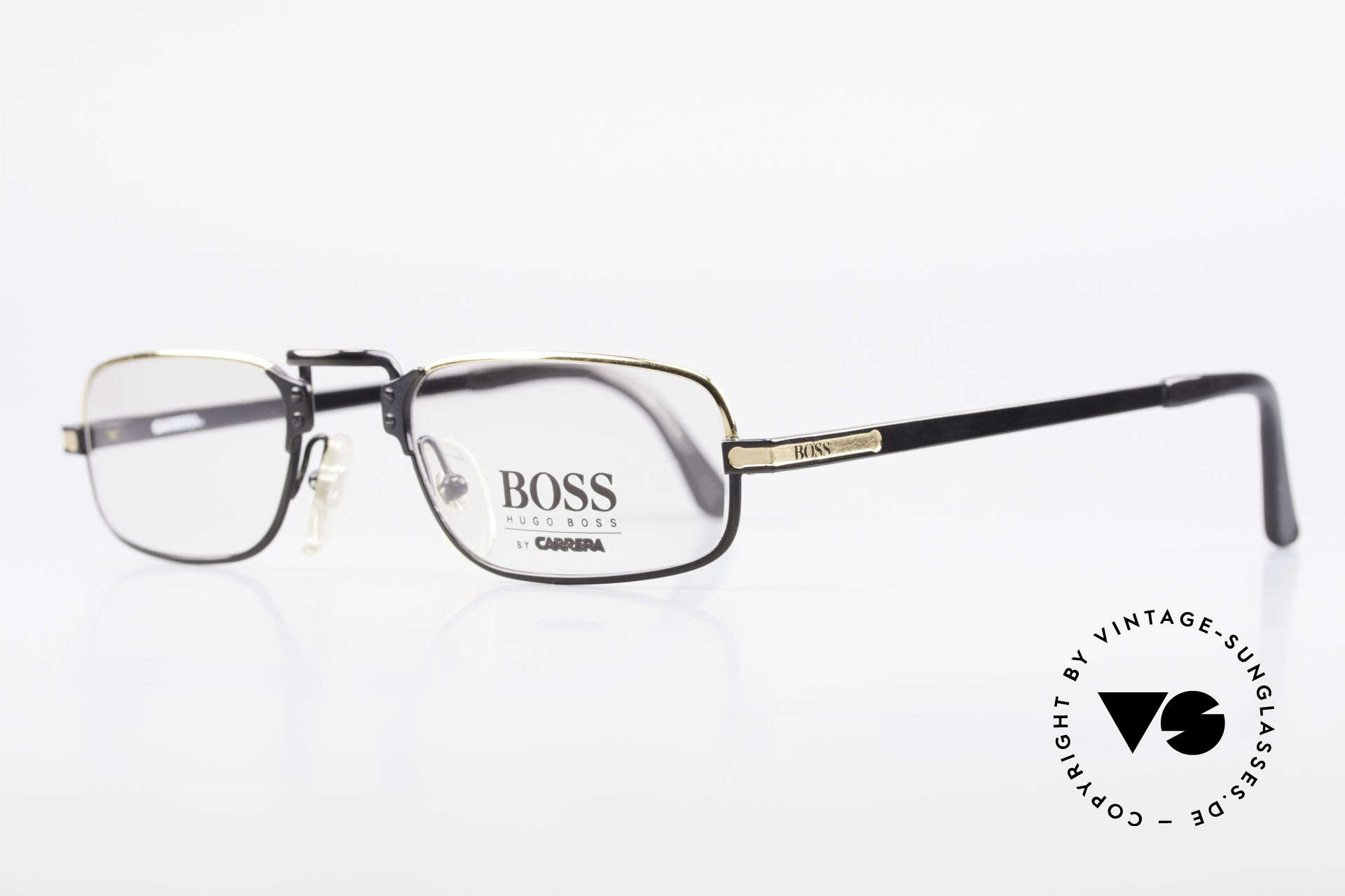 BOSS 5100 Klassische Herren Lesebrille, sehr elegante Farbkombination in schwarz und gold, Passend für Herren
