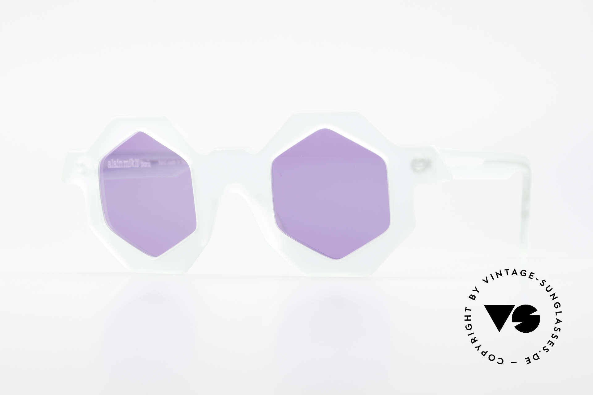 Alain Mikli 0157 / 932 Sechseckige Sonnenbrille 80er, vintage Designer-Sonnenbrille von Alain MIKLI, Passend für Damen