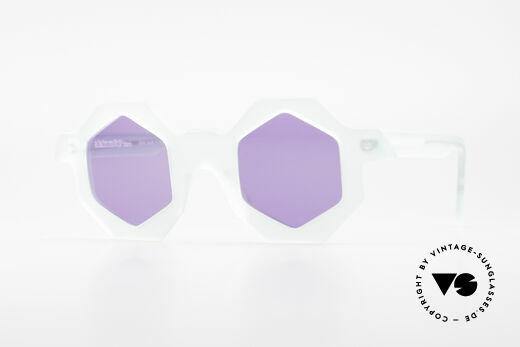 Alain Mikli 0157 / 932 Sechseckige Sonnenbrille 80er Details