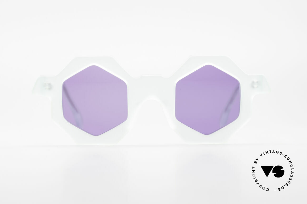 Alain Mikli 0157 / 932 Sechseckige Sonnenbrille 80er