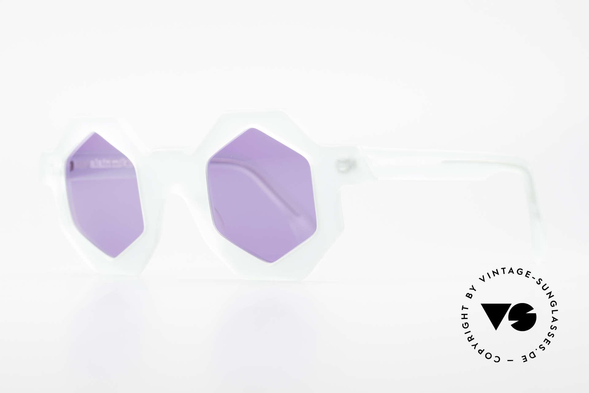 Alain Mikli 0157 / 932 Sechseckige Sonnenbrille 80er, absoluter Design-Klassiker aus den 80er Jahren, Passend für Damen