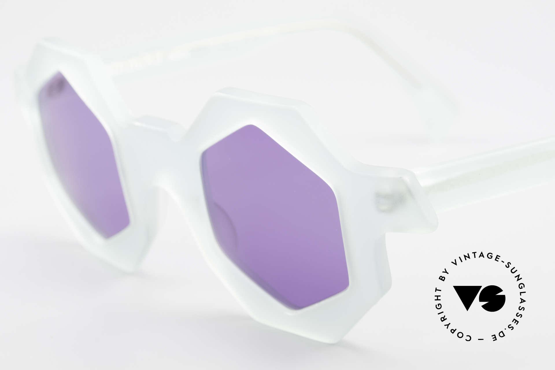 Alain Mikli 0157 / 932 Sechseckige Sonnenbrille 80er, Sammlerstück (gehört eigentlich in ein Museum), Passend für Damen