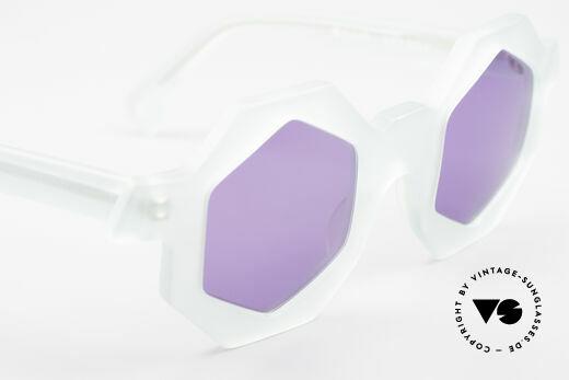 Alain Mikli 0157 / 932 Sechseckige Sonnenbrille 80er, ungetragen; wie alle unsere vintage Sonnenbrillen, Passend für Damen