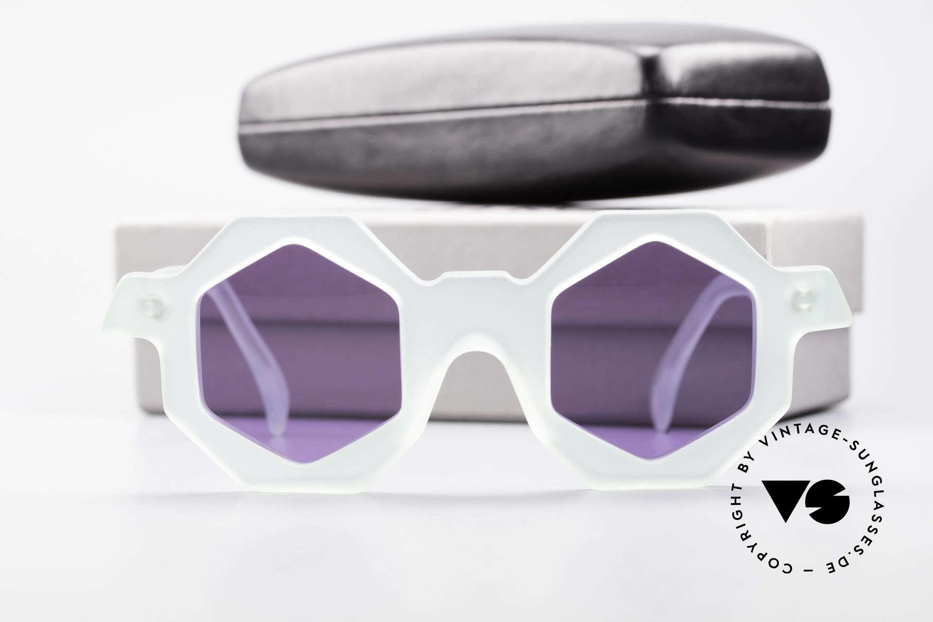 Alain Mikli 0157 / 932 Sechseckige Sonnenbrille 80er, KEINE Retrobrille; ein altes Original + RLR Etui, Passend für Damen