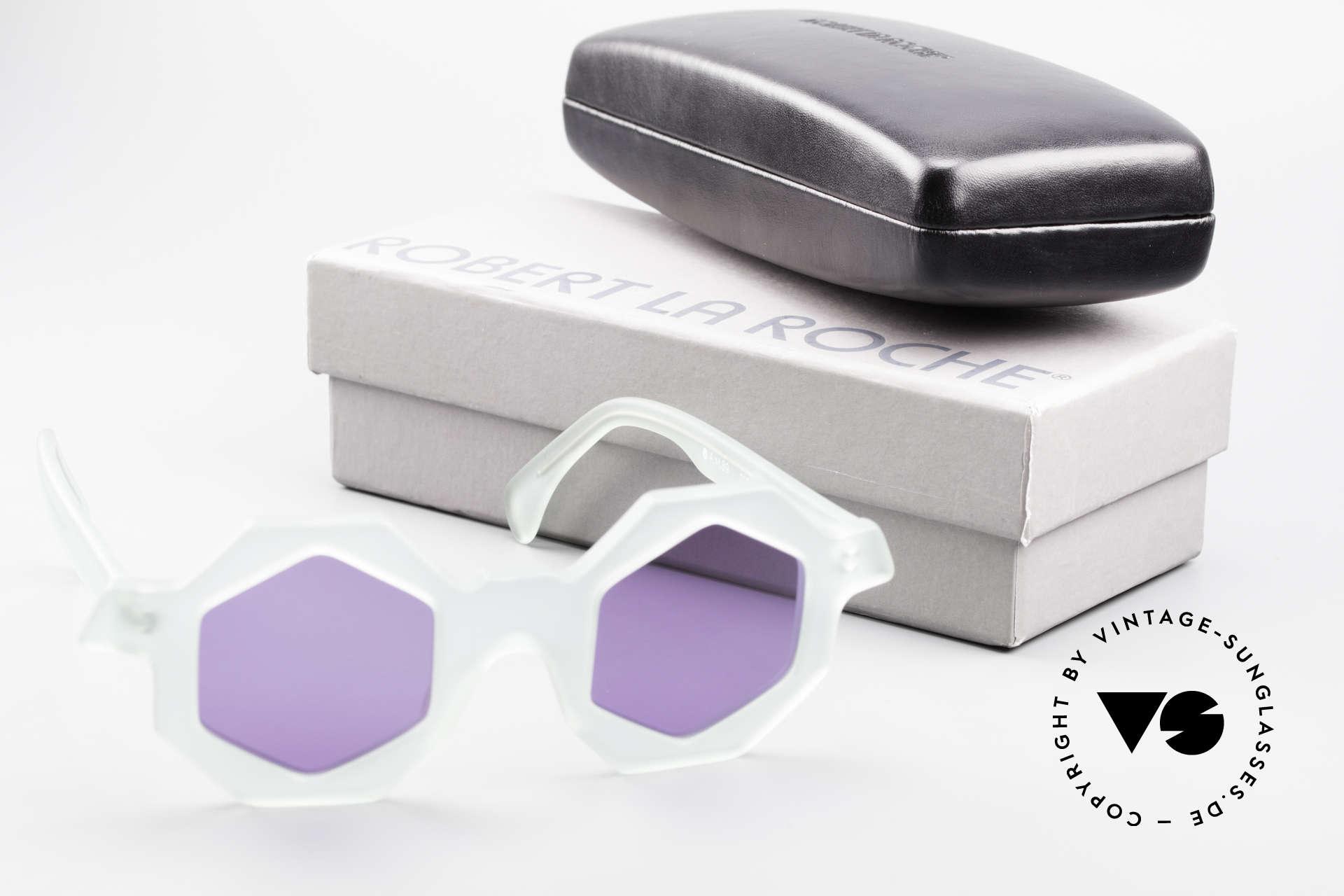 Alain Mikli 0157 / 932 Sechseckige Sonnenbrille 80er, Größe: small, Passend für Damen