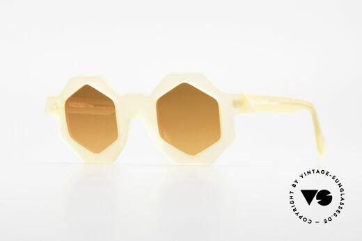 Alain Mikli 0157 / 940 Sechseckige Sonnenbrille 1989 Details