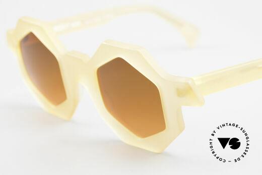 Alain Mikli 0157 / 940 Sechseckige Sonnenbrille 1989