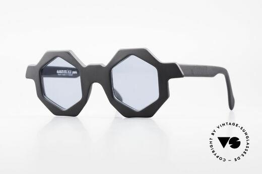 Alain Mikli 0157 / 101 Sechseckige 1989 Sonnenbrille Details