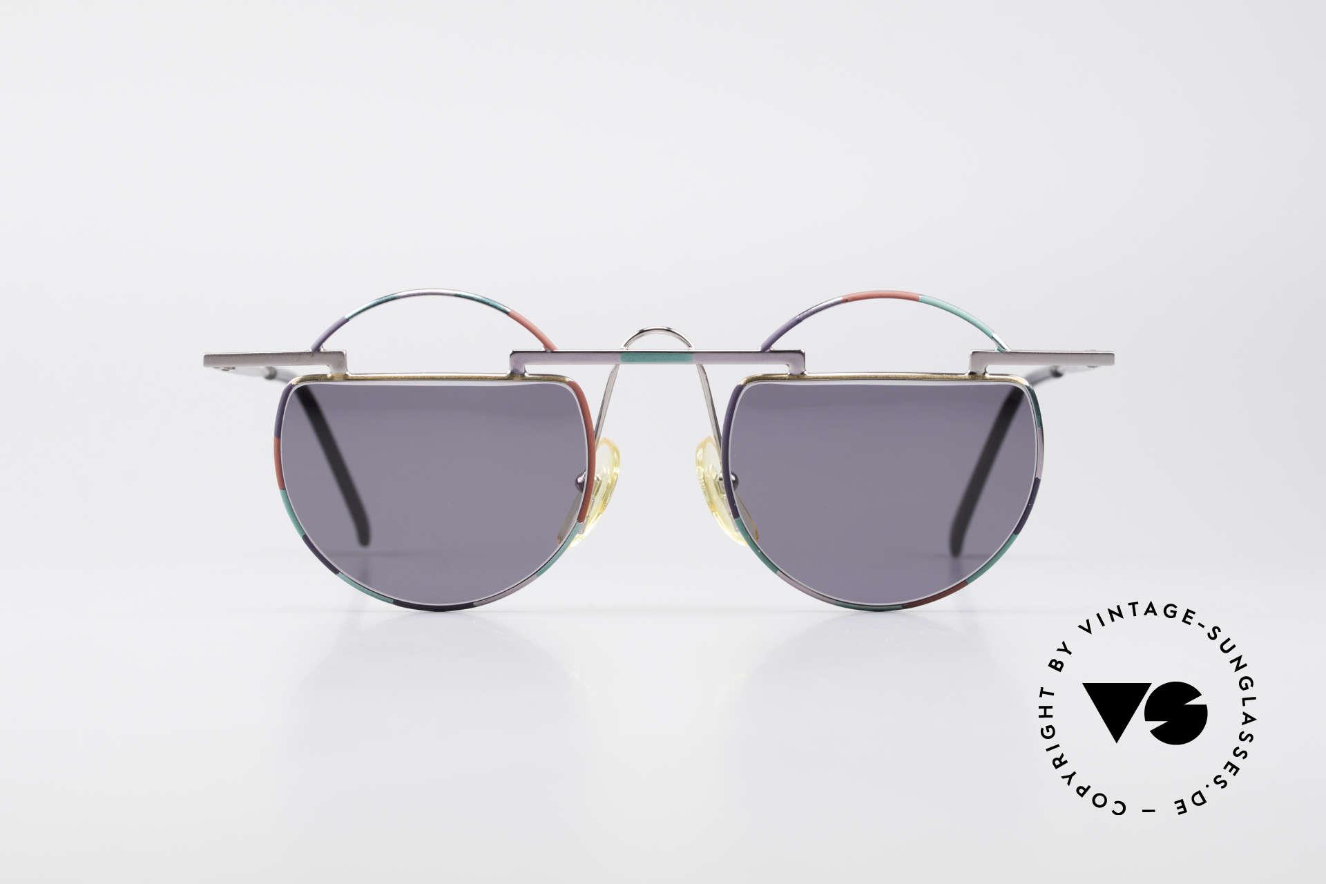 Taxi 221 by Casanova Vintage Kunst Sonnenbrille, farbenfrohes Design: schwungvoll, lebhaft, fröhlich, Passend für Damen