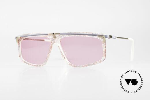 Cazal 190 80er Hip Hop Sonnenbrille Pink Details