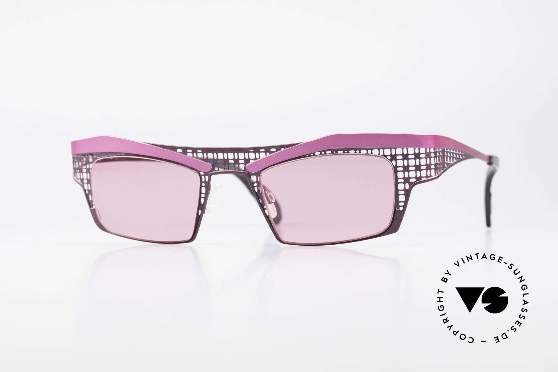 Theo Belgium Eye-Witness TA Avantgarde Sonnenbrille Pink, Theo Belgium: die eigenwilligste Brillenmarke, weltweit, Passend für Damen