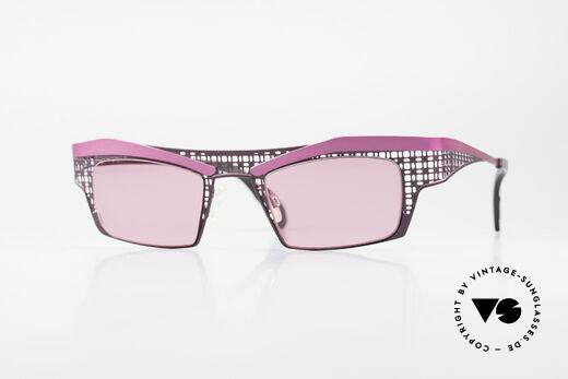 Theo Belgium Eye-Witness TA Avantgarde Sonnenbrille Pink Details