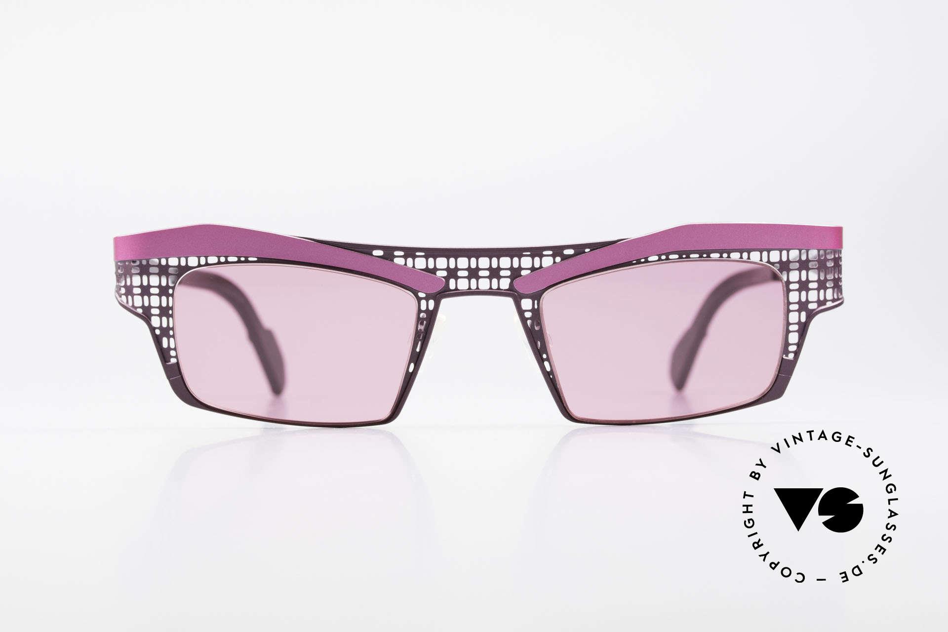 Theo Belgium Eye-Witness TA Avantgarde Sonnenbrille Pink, 1989 gegründet als GEGENPOL zum üblich 'Mainstream', Passend für Damen
