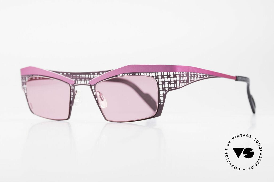 Theo Belgium Eye-Witness TA Avantgarde Sonnenbrille Pink
